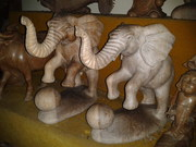 Ball elephant statue
