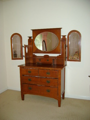 Antique Batwing Dressing Table. Farmhouse Style.