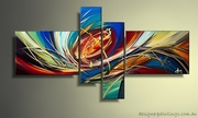 Abstract Canvas Art Digital 4 pcs Designer Painting Online