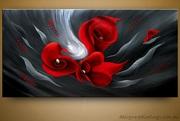 Floral Canvas Digital Oil Paintings
