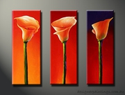 Floral Canvas Paintings 3 Pcs