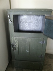 Lovely federation green antique Ice chest